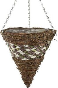 "Lucia Hanging Basket 14"" - Cone"